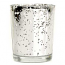 Speckled Silver Straight Votive Cup