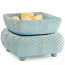Candle Warmer & Dish Chevron