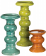 3 Piece Pillar Holder Set Assorted Colors