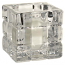 Chunky Glass Cube Votive Cup