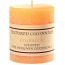 Rustic Creamsicle 3 x 3 Pillar Candles