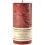 Textured Mulberry 3 x 6 Pillar Candles