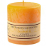 Textured Creamsicle 4 x 4 Pillar Candles