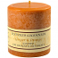 Textured Ginger and Orange 4 x 4 Pillar Candles