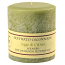 Textured Sage and Citrus 4 x 4 Pillar Candles