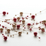 Pearl Red and Brown Beaded Garland
