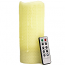 Honeycomb 3 x 8 Remote Control Pillar Candles