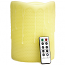 Honeycomb 6 x 8 Remote Control Pillar Candles