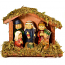 Small Wood Nativity Scene with Moss