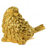 Golden Glitter Resin Bird
