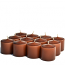 Unscented Brown Votive Candles 10 Hour