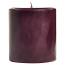 3 x 3 Merlot Pillar Candles