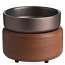 Candle Warmer & Dish Pewter Walnut