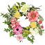 Mixed Flowers and Berries 4.5 Inch Candle Ring