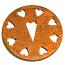 Rust Heart Jar Capper