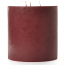 6 x 6 Leather Pipe and Woods Pillar Candles