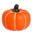 Cement Pumpkin Accent Small Orange
