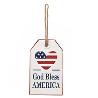 God Bless America Wall Tag Metal