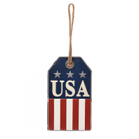 USA Americana Wall Tag Metal