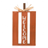 Tabletop Pumpkin Welcome Sign