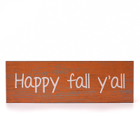 Happy Fall Y'All Wall Sign