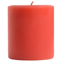 4 x 4 Ruby Red Grapefruit Pillar Candles