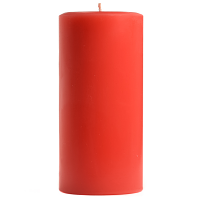 3 x 6 Ruby Red Grapefruit Pillar Candles