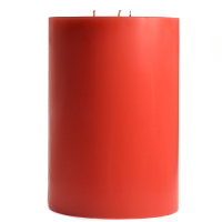 6 x 9 Ruby Red Grapefruit Pillar Candles