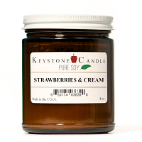 Pure Soy Strawberries and Cream 8 oz