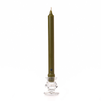 8 inch Moss Green Classic Taper Candle