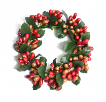 Rice Berry 1.5 Inch Candle Ring Red Tan