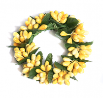 Rice Berry 1.5 Inch Candle Ring Yellow