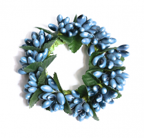 Rice Berry 1.5 Inch Candle Ring Williamsburg Blue