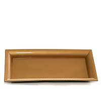 Rectangle Plastic Tray Gold