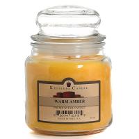 Warm Amber Jar Candles 16 oz