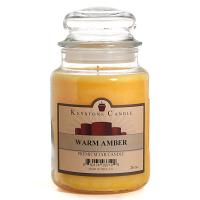 Warm Amber Jar Candles 26 oz