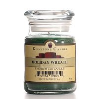 Holiday Wreath Jar Candles 5 oz