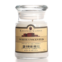 White Unscented Jar Candles 5 oz