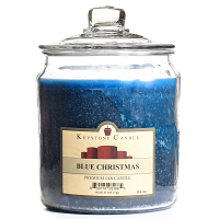 Blue Christmas Jar Candles 64 oz