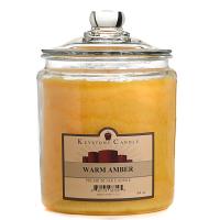 Warm Amber Jar Candles 64 oz