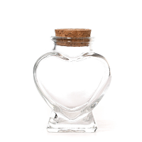 Heart Shaped Glass Bottle