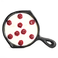 Raspberry Creme Brulee Scented Pan Candles