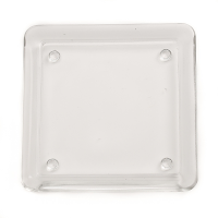 Square Glass Candle Plate 5 Inch