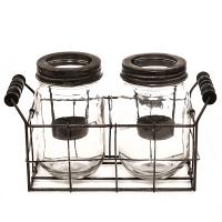 Mason Jar Tealight Holder Set