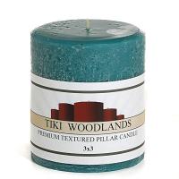 Rustic Tiki Woodlands 3 x 3 Pillar Candles
