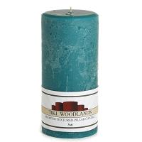 Textured Tiki Woodlands 3 x 6 Pillar Candles