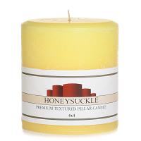 Textured Honeysuckle 4 x 4 Pillar Candles