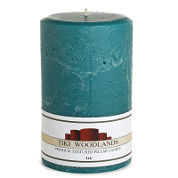 Textured Tiki Woodlands 4 x 6 Pillar Candles