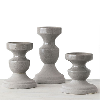 Gray Candle Holders Set of 3