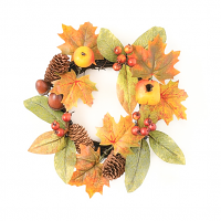 Foliage Mixed Fruit 4.5 Inch Candle Ring